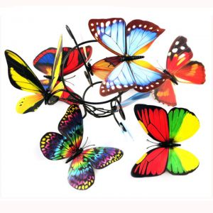 12cm Artificial Butterflies | Colorful 3d Butterfly Decoration for Wall & Living rooms