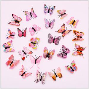 6cm 3D Artificial Butterflies | Creative Decorative Decals for Home & Magnetic Fridge