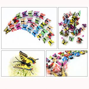 4-4.5cm 3d Artificial Butterfly Wall Decals | Colorful Decorative Stickers for Kids Room