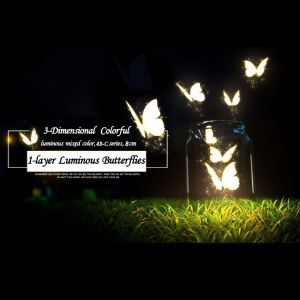 8cm Simulation Luminous Butterflies, Mixed-color 3d PVC Butterfly Decals for Wall Decoration