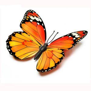 30cm 3d Artificial Decorative Butterflies | Plastic Simulation Butterflies for Outdoors Decoration