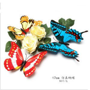 17cm Creative Artificial Simulation Butterflies | 3d Decorative Decals for Living & Kids Rooms