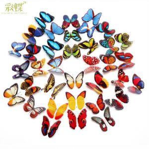 butterfly 3d wall decals, 3d butterflies wall stickers in 7cm, 1-layer pvc sets