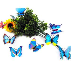 7cm Artificial Butterflies | Optional 6-colors Butterfly Decals for the Décor of Wall&Fridge