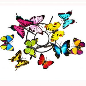 PVC Artificial Butterflies | Colorful 3d Simulation Butterflies Decals for Living & Kids Room
