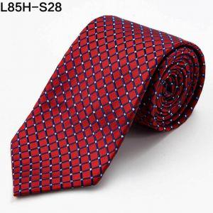 red square silk woven ties, custom neckties