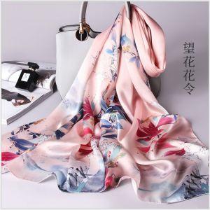 flower printed silk scarves
