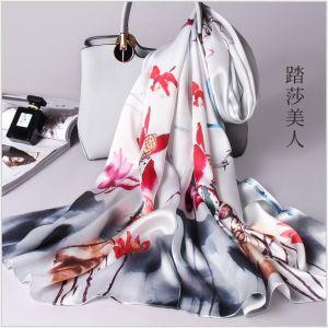 lotus pond landscape silk scarves