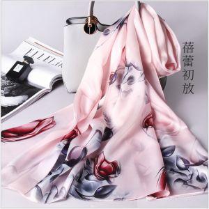 flower bud printed silk scarves, custom printed scarves