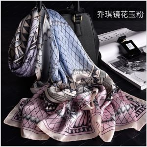 Women Georgette Scarf Shawls, Custom Printed Silk Scarves