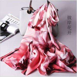 floral women silk scarves, custom printed scarves