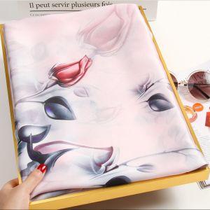pear flower blossom silk scarves, custom printed scarves