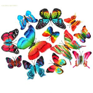 Butterfly Wall Decals, PVC Replica Butterfly Wall Stickers