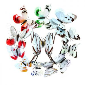 3D Butterfly Wall Decals, Replica White Set Butterfly Wall Stickers