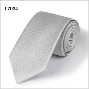 silvery grey polyester ties