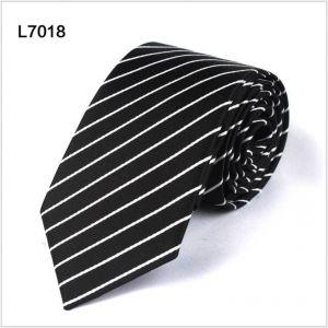 diagonal polyester ties, custom black neckties