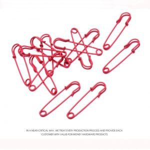 red decorative safety pins