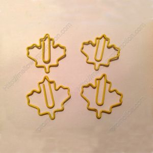 Maple Leaf Paper Clips | Plant | Fashion Bookmarks (1 dozen/lot)