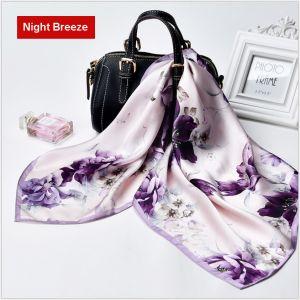 square silk scarves in night breeze, custom printed scarves