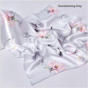 square silk scarves in gray, custom printed scarves
