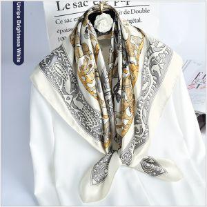 womens silk scarves in large square, custom printed silk scarves
