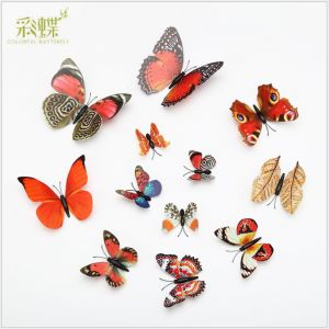 1-tier Artificial PVC Butterflies | Creative Retro Butterfly Wall Decals for Home Décor