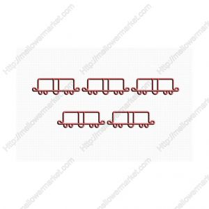 Box Car Shaped Paper Clips | Vehicle Paper Clips | Business Gifts (1 dozen/lot)