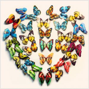 12cm 3D 2-layer Artificial Butterflies | Simulation Decals for living room & wall & TV