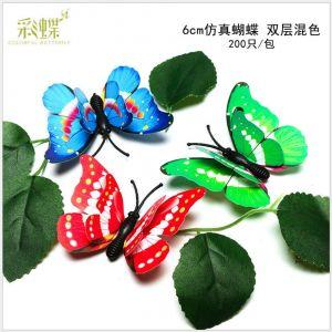 6cm 3D two-layer artificial Butterflies | Decorative Butterflies for Wall & Gardening Decoration
