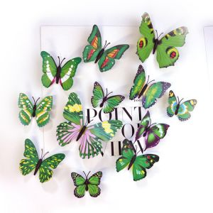 3D Artificial Simulation Butterflies for Walls | Creative Butterfly Decals for Home Decor