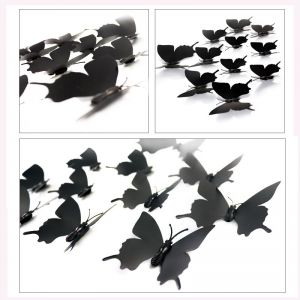 Butterfly Wall Decals | Pure Black & White Swallowtail Stickers