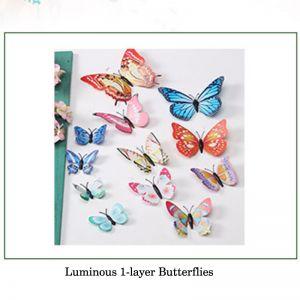 Luminous Artificial Butterflies Decals | 3D Magnetic Butterflies
