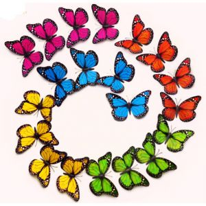 3d Monarch Butterflies Wall Decals | PVC Simulation Butterflies for Home Decor