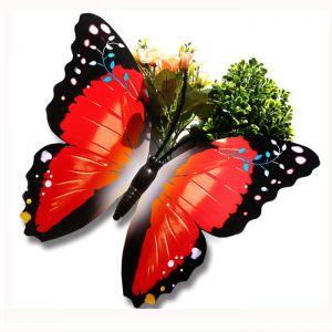 40cm Jumbo Décor Plastic Butterflies | Artificial Butterflies for Gardening & Market Decoration