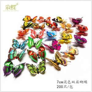7cm Artificial Simulation Butterflies | 3D Decorative Wall Stickers for Home & Fridge