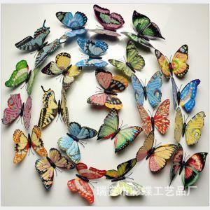 10cm Artificial Powdered Gold Plastic Butterflies | 3D PVC Butterflies Decals for walls & rooms