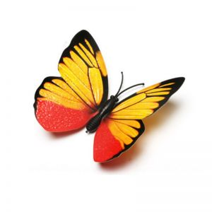 Powdered Golden Simulation Butterflies | 3d PVC Butterfly Decorative Decals for Wall & Fridge