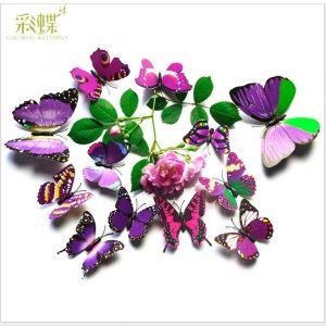 Artificial Purple Simulation Butterflies | 1-tier 3D Butterflies Decals for Walls