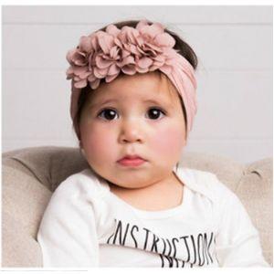 Chiffon Flower Baby Headbands   Super Soft Nylon Headbands   Cute Baby Headbands