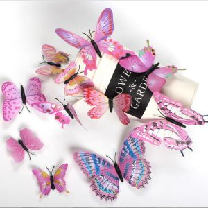 Colorful 1-tier Plastic Butterflies | Creative 3D Decorative Decals for Wall & Home Decoration