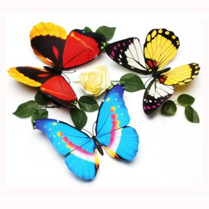 22cm 1-layer Creative Simulation Butterfly Wall Decals | Artificial Butterflies for Decorating Rooms