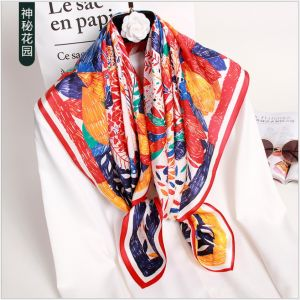 custom printed silk scarves