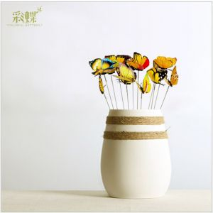 Simulation Artificial Butterflies with Inserted Pole | 3d PVC butterflies for Home & Room Decoration