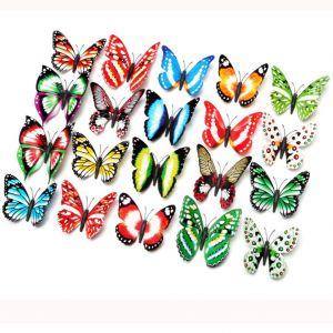 Luminous 3d Butterfly Wall Stickers | Artificial Butterflies | 9.5cm PVC Magnet Decals