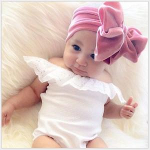 Pleuche baby headbands , elastic baby bow headbands