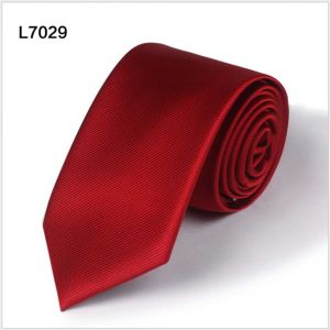twill diagonal polyester ties, custom red neckties