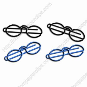 shaped paper clips in glasses outline, specs shaped paper clips