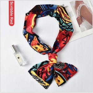custom printed silk riband scarves
