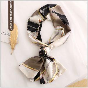 silk ribbon Scarf in Belt Chain, custom printed silk scarves