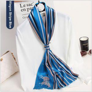 silk ribbon scarf for women, custom printed silk scarves